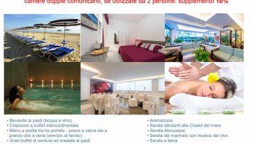 14 al 21 SETTEMBRE 2019: soggiorno a Giulianova (TE), in Hotel tre stelle con ingresso libero al centro benessere € 49,00 /giorno