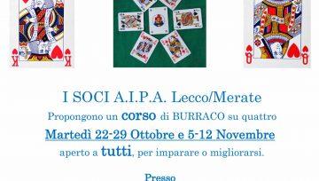 corso di BURRACO su quattro Martedì (22-29 Ottobre e 5-12 Novembre 2019)