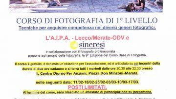 Corso di Fotografia di Primo Livello (Febbraio/Marzo 2020)